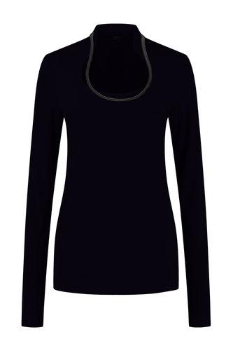 Chiarico Top Angeline Leather Zwart